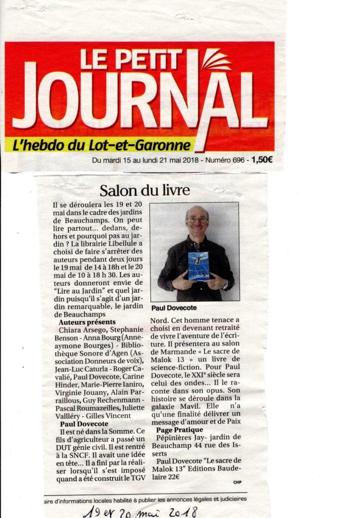 Le petit journal du Lot et Garonne_mai 2018